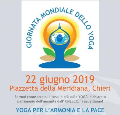 Sabato 22 giugno Chieri partecipa alla giornata mondiale dello Yoga